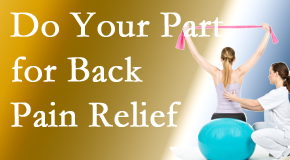 Cox Chiropractic Medicine INC calls on back pain sufferers to participate in their own back pain relief recovery.