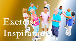 Cox Chiropractic Medicine INC hopes to inspire exercise for back pain relief by listening closely and encouraging patients to exercise with others.