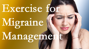 Cox Chiropractic Medicine INC includes exercise into the chiropractic treatment plan for migraine relief.