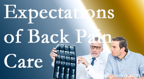 The pain relief expectations of Fort Wayne back pain patients influence their satisfaction with chiropractic care. What is realistic?