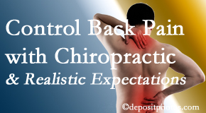 Cox Chiropractic Medicine INC helps patients establish realistic goals and find some control of their back pain and neck pain so it doesn't necessarily control them.