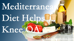 Cox Chiropractic Medicine Inc shares recent research about how good a Mediterranean Diet is for knee osteoarthritis as well as quality of life improvement.