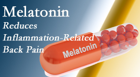 Cox Chiropractic Medicine Inc shares new findings that melatonin interrupts the inflammatory process in disc degeneration that causes back pain.