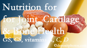 Fort Wayne Chiropractic Radiological Center explains the benefits of vitamins A, C, and D as well as glucosamine and chondroitin sulfate for cartilage, joint and bone health.