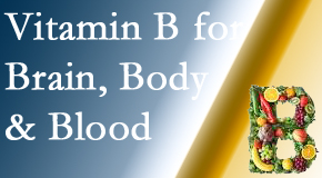 Chiropractic cares about vitamin B levels.