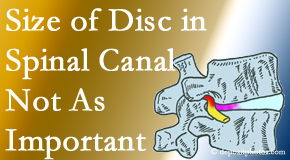 Cox Chiropractic Medicine Inc presents new research that again states that the size of a disc herniation doesn't matter that much.