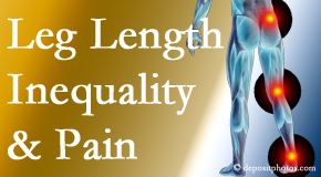 Fort Wayne Chiropractic Radiological Center tests for leg length inequality as it is related to back, hip and knee pain issues.