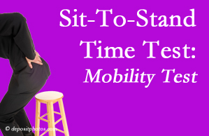 Fort Wayne chiropractic patients are encouraged to check their mobility via the sit-to-stand test…and increase mobility by doing it!