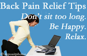 Fort Wayne Chiropractic Radiological Center reminds you to not sit too long to keep back pain at bay!