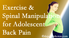 Cox Chiropractic Medicine Inc uses Fort Wayne chiropractic and exercise to relieve back pain in adolescents.