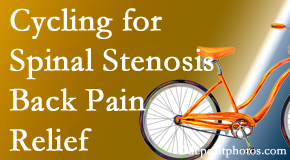 Fort Wayne Chiropractic Radiological Center encourages exercise like cycling for back pain relief from lumbar spine stenosis.