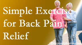 Fort Wayne Chiropractic Radiological Center suggests simple exercise as part of the Fort Wayne chiropractic back pain relief plan.