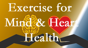 A healthy heart helps maintain a healthy mind, so Cox Chiropractic Medicine INC encourages exercise.
