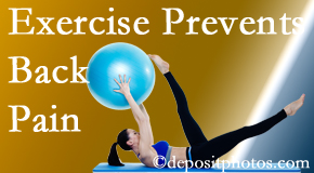 Cox Chiropractic Medicine Inc encourages Fort Wayne back pain prevention with exercise.