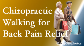 Fort Wayne Chiropractic Radiological Center encourages walking for back pain relief along with chiropractic treatment to maximize distance walked.