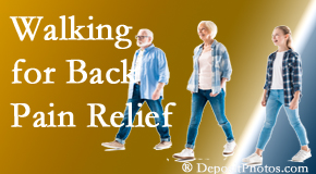 Fort Wayne Chiropractic Radiological Center often recommends walking for Fort Wayne back pain sufferers.