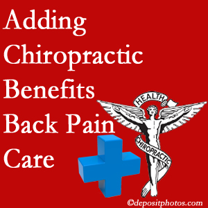 Added Fort Wayne chiropractic to back pain care plans works for back pain sufferers.