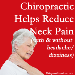 Fort Wayne chiropractic treatment of neck pain even with headache and dizziness relieves pain at a reduced cost and increased effectiveness.