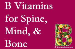Fort Wayne bone, spine and mind benefit from exercise and vitamin B intake.