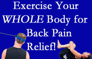 Fort Wayne chiropractic care includes exercise to help enhance back pain relief at Cox Chiropractic Medicine Inc.