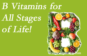 Cox Chiropractic Medicine Inc urges a check of your B vitamin status for overall health throughout life.