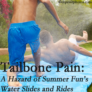 Fort Wayne Chiropractic Radiological Center uses chiropractic manipulation to ease tailbone pain after a Fort Wayne water ride or water slide injury to the coccyx.