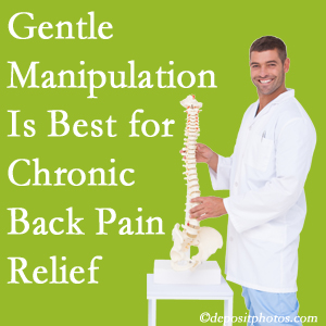 Gentle Fort Wayne chiropractic treatment of chronic low back pain is superior.