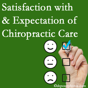 Fort Wayne chiropractic care provides patient satisfaction and meets patient expectations of pain relief.
