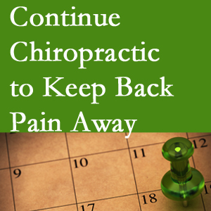 Continued Fort Wayne chiropractic care helps keep back pain away.